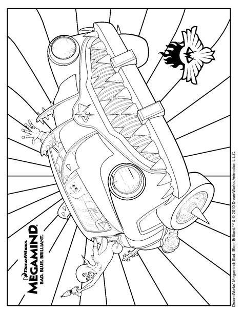 Megamind Coloring Megamind Coloring Pages Printable
