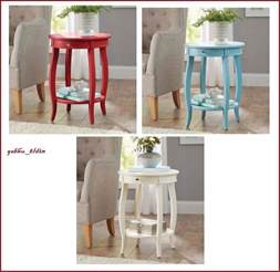 Round White Side Table Modern French Accent Table Console Round Living Room Side