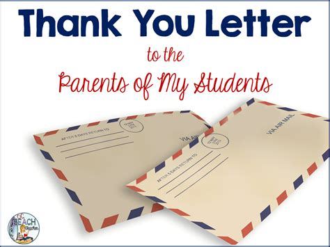 thank you letter to a dear a thank you letter to parents ocbeachteacher