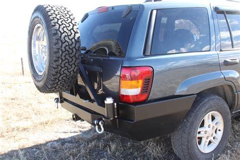 jeep wj rear bumper rock 4x4 patriot series rear bumper w tire carrier