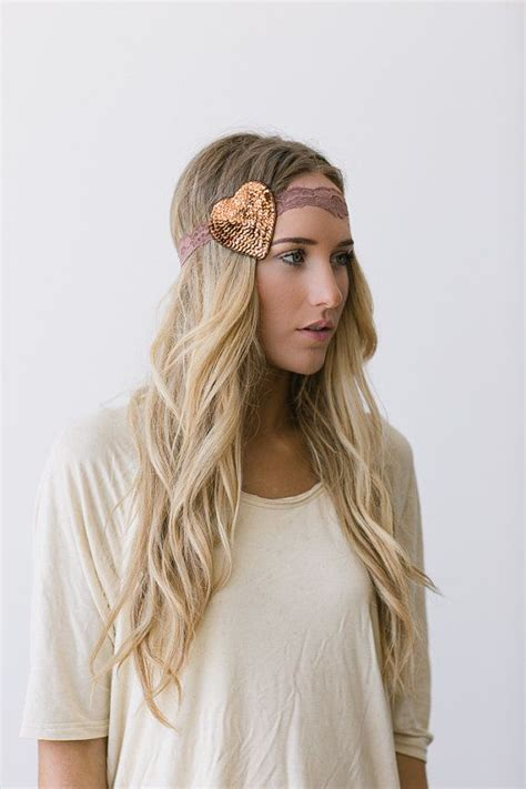 taupe hair color pictures heart lace headband stretchy taupe hair band with sequin
