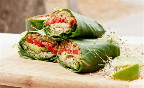 vegan food recipe vegan collard wraps recipe