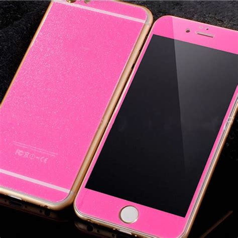 Sale Sunsway Samsung S4 Mirror Tempered Glass glitter glass screen protector iphone 6 6 plus front and back luxurious bling
