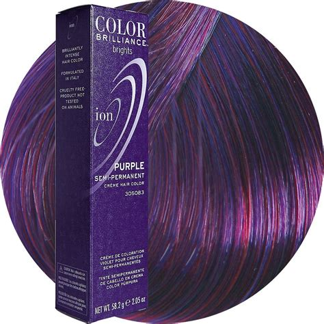 ion color brilliance semi permanent magenta and purple ombre by colleen m preen me