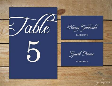 Navy Count Cards Template by 52 Best Images About Printable Wedding Downloads On