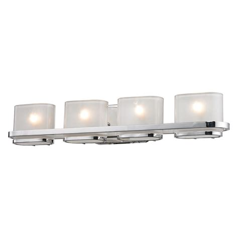 chrome bathroom vanity lights shop westmore lighting 4 light morrow polished chrome with