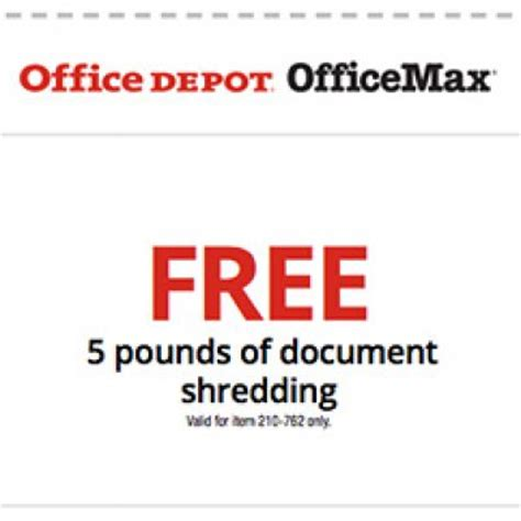Office Depot Coupons Shredding Office Depot Officemax Free Shredding Oh Yes It S Free