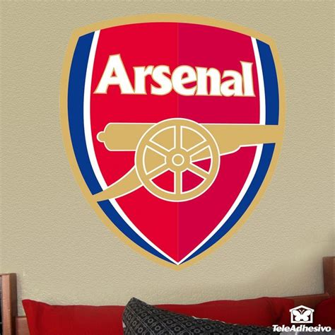 arsenal wall stickers fc arsenal badge color