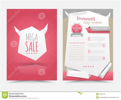 magazine layout design template vector abstract origami design vector template layout for
