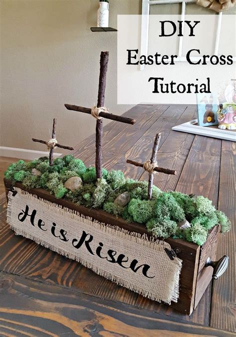 religious easter decorations for the home how to make a wooden cross for beautiful decor cross