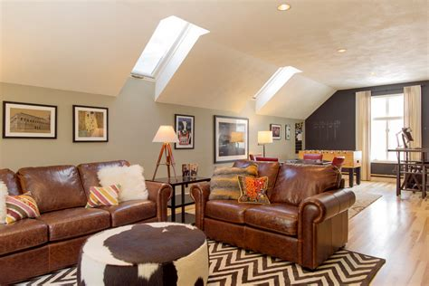 room over garage design ideas good looking distressed leather sofa vogue boston