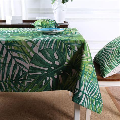 custom table cloths tablecloth tropical leaves prints table linens with custom
