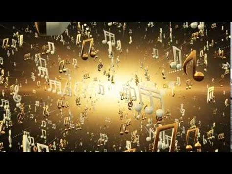 golden  notes background motion graphics videohive template youtube