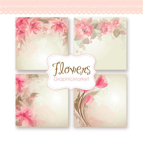 wedding digital floral card for wedding invites scrapbooking