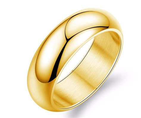 mirror polishing simple gold finger ring without