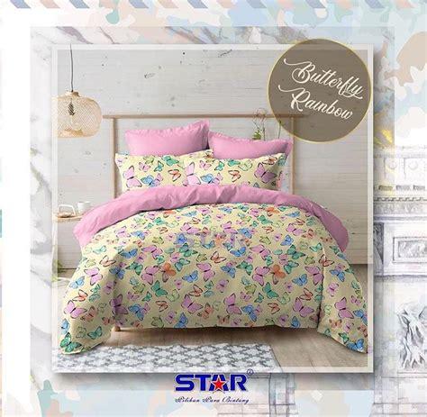 Harga Sprei Merk Rainbow detail produk sprei dan bedcover butterfly rainbow toko