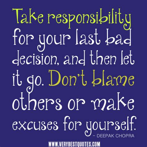 Taking Responsibility Quotes