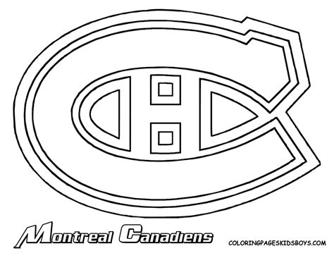 free le hockey logos coloring pages