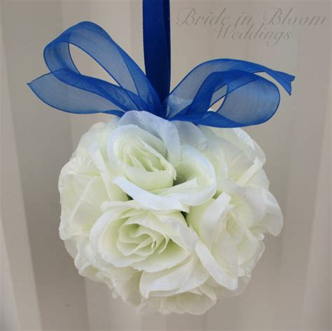 wedding aisle flower balls wedding flower balls pomander royal blue wedding