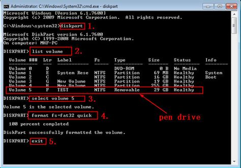 diskpart format drive top three ways for pen drive fat32 format in windows 10 8 7