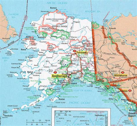 road map alaska usa hognews state pages alaska