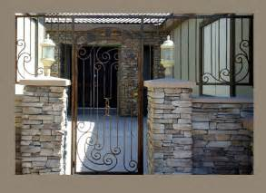 Wine Racks Cellar - courtyard entry gates