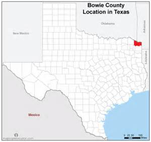 free and open source location map of bowie county