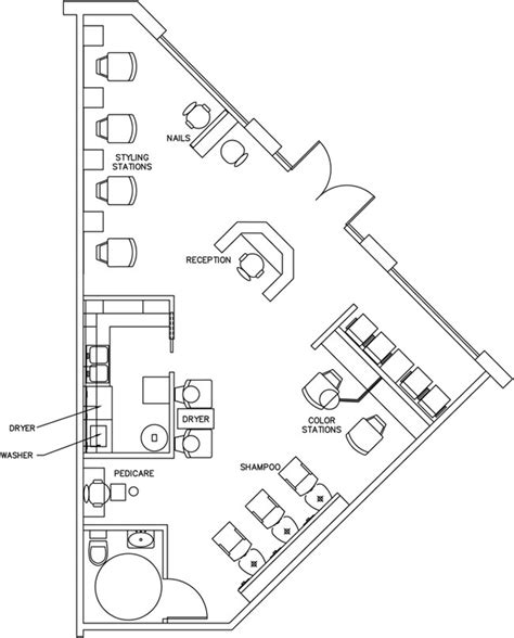 salon layout drawing beauty salon floor plan design layout 890 square foot