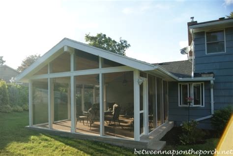 screened  porch addition convert  patio   porch