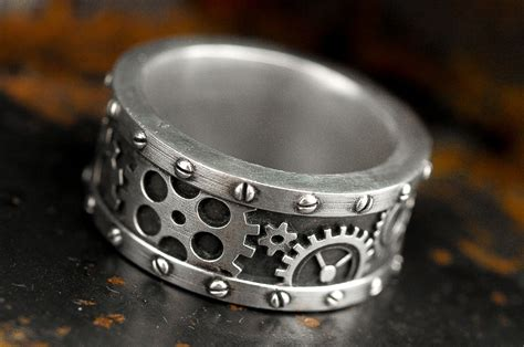 Handmade Cing Gear - buy a custom made steunk industrial gear ring made to