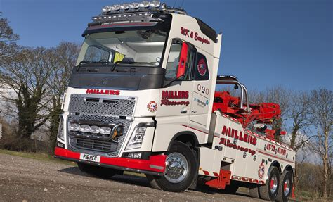 volvo heavy haulage trucks for sale millers of longton s recovery truck is an fh16
