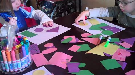 for to make at school pre school activity pictures using shapes