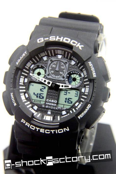 G Shock Ga 100 Black Opp3 g shock ga 100 black white wrist by www g