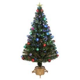 Fiber Optic Christmas Tree Lowes - shop merske jolly workshop 4 ft pre lit pine artificial