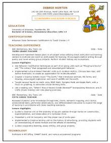 Preschool Resume Objective Exles by Preschool Resume Sles Sle Resumes