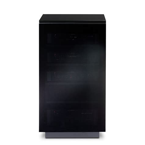 audio tower cabinet bdi mirage 8222 audio tower cabinet in black finish