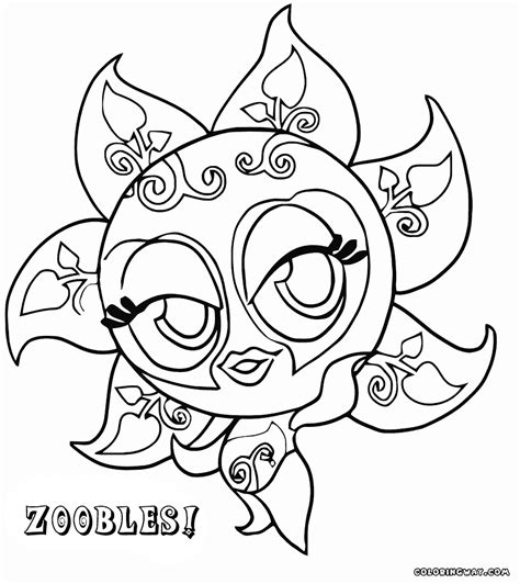 Zoobles Coloring Pages Zoobles Coloring Pages Coloring Pages To Download And Print