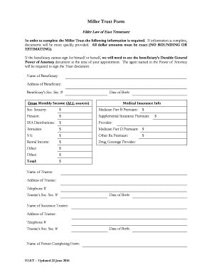 Miller Trust Form Elderlawetn Com Fill Online Printable Fillable Blank Willandtrustform Com Miller Trust Template
