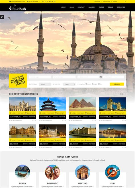 free travel templates best premium travel agency templates top free themes for