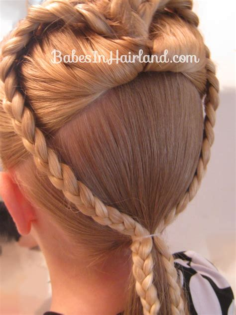 hair braiding styles step by step 2 braided hearts valentine s day hairstyle babes in