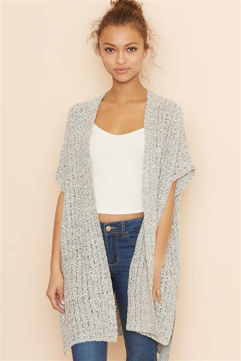 knitting pattern womens vest long knit vest pinteres