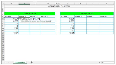 Ceiling Function Excel by How To Use The Ceiling Math And The Floor Math Function In