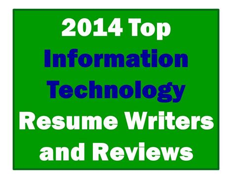 Best Information Search 2014 Best Information Technology Resume Writers Resume Remodeler