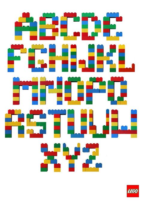 free lego printable letters the 25 best lego font ideas on pinterest lego birthday
