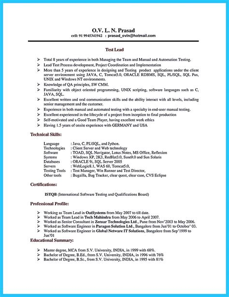 Resume Database by How Professional Database Developer Resume Must Be Written
