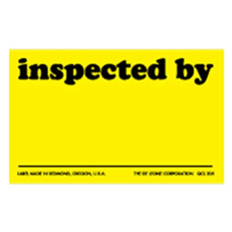 Inspected Ok Sticker Stiker Inspected quality labels and qc labels