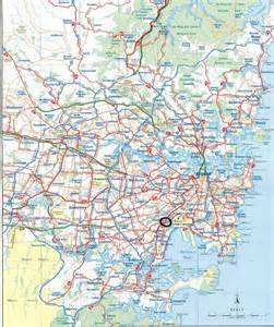 road maps detailed roads map of sydney