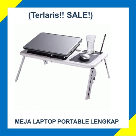 E Table Meja Laptop meja laptop meja lipat e table cooling pad aksesoris