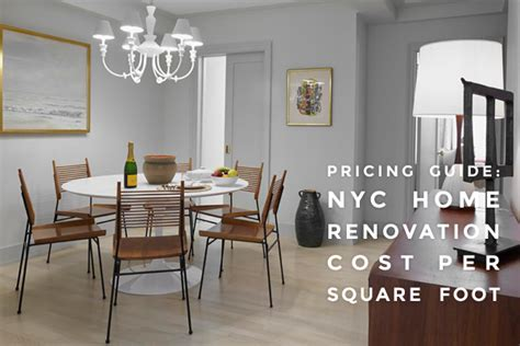 nyc home renovation cost per square foot square and