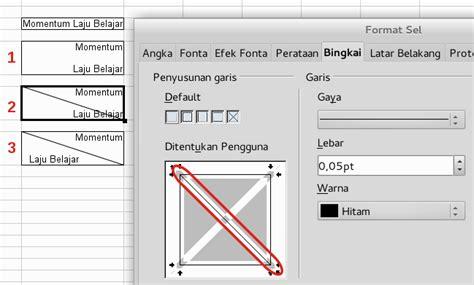 format sel adalah membuat garis diagonal pada table di libreoffice writer
